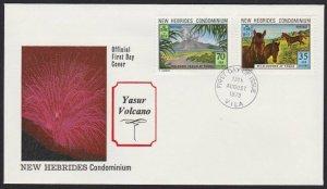 NEW HEBRIDES 1973 Yasur Volcano commem FDC..................................H331