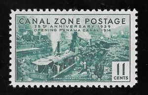 CANAL ZONE 128 11 cents 25th Anniversary Stamp Mint OG NH VF