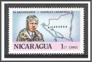 Nicaragua #1050 Lindbergh's Transatlantic Flight MNH
