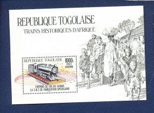 TOGO - Scott 1274  - FVF MNH S/S - Train Locomotive - 1984