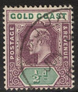 GOLD COAST SG38 1902 ½d DULL PURPLE & GREEN FINE USED