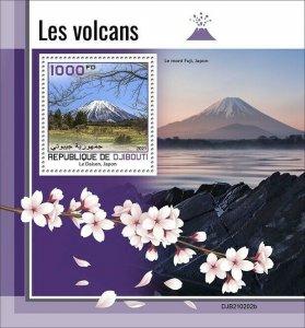 2021/05- DJIBOUTI - VOLCANOES      1V complet set    MNH ** T