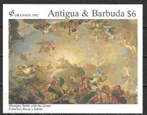 Antigua 1569 Paintings s.s. MNH