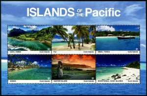 HERRICKSTAMP NEW ISSUES COOK ISLAND Islands of the Pacific Sheetlet