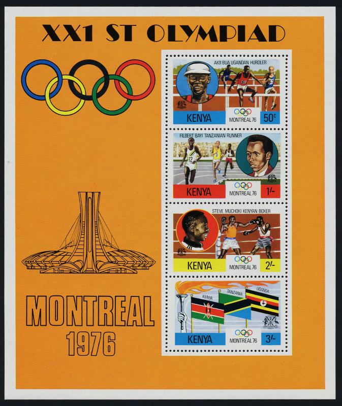 Kenya 63a MNH Olympic Games, Sports, Flags, Athletics, Boxing