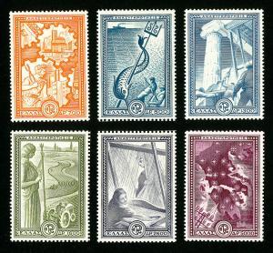 Greece Stamps # 539-44 VF OG LH Set of 6 Scott Value $227.00