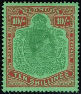 Bermuda #126 King George VI; Unused (3Stars)