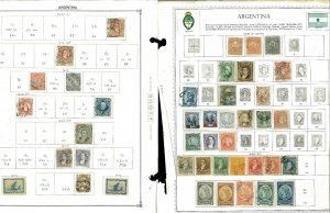 Argentina 1877-1960 Mostly Used (few mint) Hinged on Minkus Global Pages