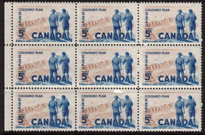 Canada - Colombo Plan 1961 SC394 Mint Block 3x3  NH