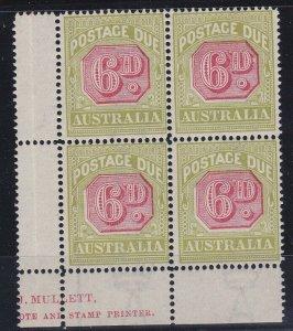PDA45) 1922-30 Third wmk 6d Carmine & yellow green ACSC D112D part Ash imprint