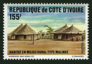 Ivory Coast 889,MNH.Michel 1018. Rural Village,1990.