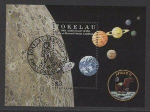 TOKELAU ISLANDS SGMS301 1999 MOON LANDING FINE USED