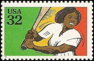 US 2962 Recreational Sports Softball 32c single (1 stamp) MNH 1995