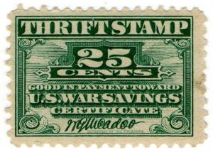 (I.B-CK) US Revenue : War Savings Thrift Stamp 25c