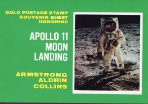 Manama 1971 Mi#Bl125 Anniversary of Apollo 11 Gold SS Imperf.Booklet