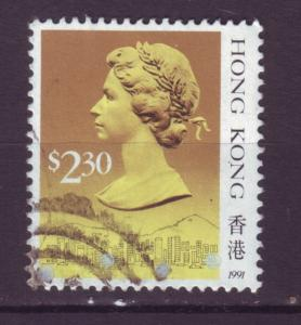 J9886 JL stamps 1991 hong kong used #593 queen