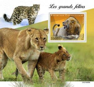 C A R - 2021 -Big Cats - Perf Souv Sheet - Mint Never Hinged
