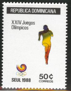 DOMINICAN REPUBLIC Scott 1031 MNH** olympic runner stamp
