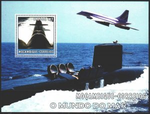 Mozambique. 2002. bl 192. Submarine, fighter. MNH.