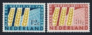 Netherlands 413-414 blocks/4,MNLH/MNH.Mi 791-792. FAO 1963.Freedom from Hunger.