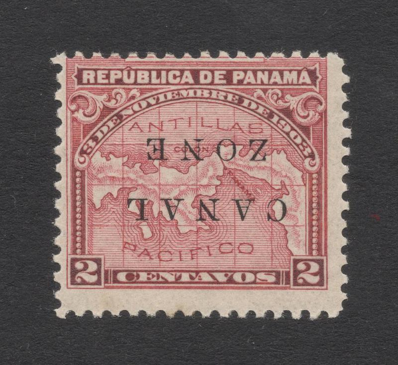 CZ#10a Rose - Inverted Overprint -O.G.- Certified