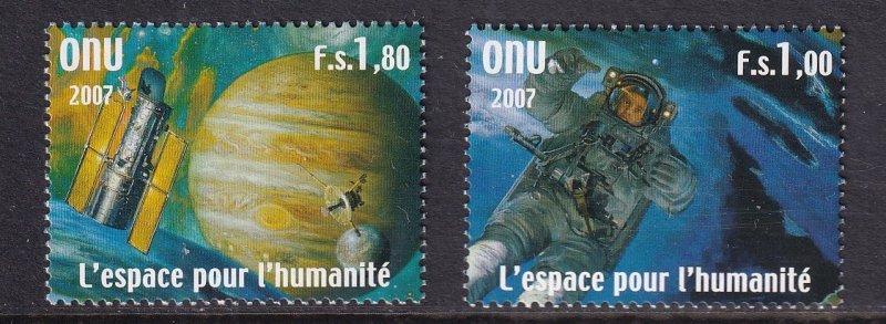 United Nations Geneva   #476-477  MNH  2007   space  station . astronaut