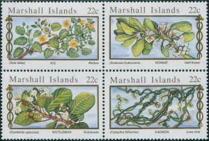 Marshall Islands 1985 SG67-70 Medicinal Plants set MNH