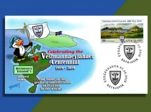 Sorta New From ICELAND : Vestmannaeyjabaer (that's a mouthful!) Centennial FDC