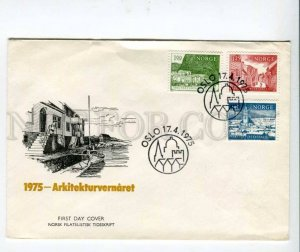 290412 NORWAY 1975 year architecture First Day COVER