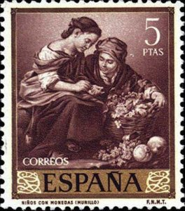Spain 1960 Children with coins MNH**