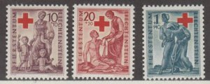 Liechtenstein Scott #B15-B16-B17 Stamps - Mint Set