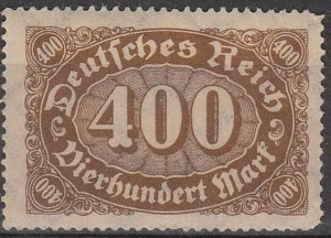 Stamp Germany Reich Mi 222 Sc 159 1922 Number Horizontal Oval Queroffset MNH