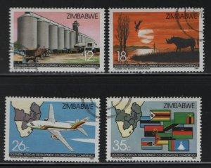 Zimbabwe 525-528 (4) Set, Used, 1986  Southern African Development