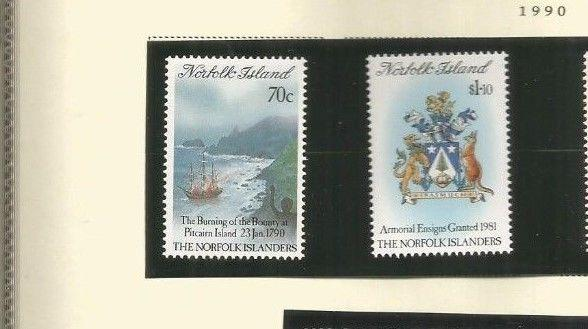 NORFOLK ISLAND SCOTT 469-70 MNH