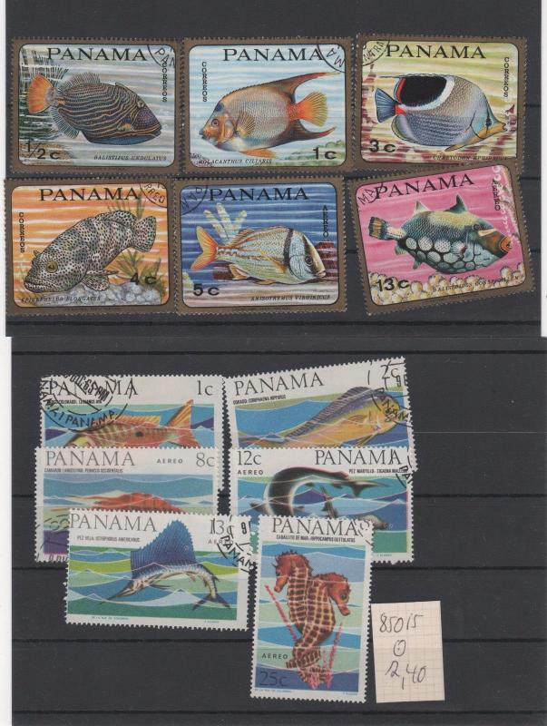 PANAMA  STAMPS SHOW DEALER CLOSEOUT LOT FISH 727 1017