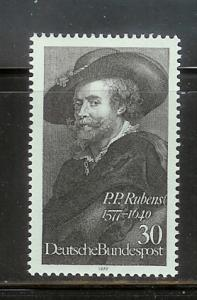 Germany 1250 Set MNH Rubens, Self Portrait (A)