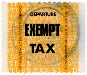 (I.B) Australia Revenue : Departure Tax (Exempt)