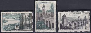France 837-839 MNH (1957)