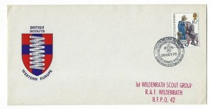 1975 UK Great Britain Boy Scouts visit British Forces cancel