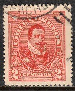 Chile 128, 2¢ PEDRO DE Valdivia. Used. VF. (559)