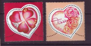 J20456 lstamps 2003  france set mnh #2926-7 hearts