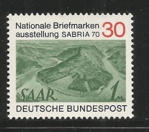 GERMANY 1053  MNH,  FRIEDRICH EBERT, 1ST PRES. OF THE GERMAN REPUBLIC