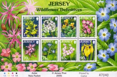 Jersey Sc 1235a 2006 Wildflowers stamp sheet mint NH