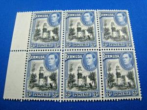BERMUDA -  SCOTT #121A  -  BLOCK OF 6  -   MNH              (wwb6)