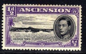 Ascension Island 1938 - 53 KGV1 1/2d Black & Violet MM SG 38b ( R602 )