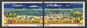 Dahomey 219-220,MNH.Michel 274-275. Port Cotonou.France-Dahomey cooperation,1966