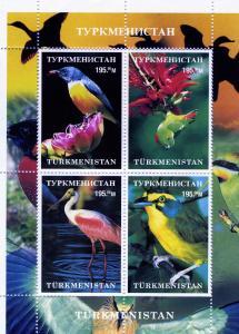 Turkmenistan Birds Sheet (4) Perforated mnh.vf