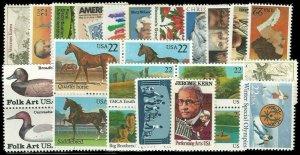 PCBstamps 1985 Commemoratives Year Set, #2110//2166), (27), MNH