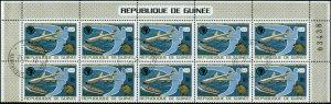 Guinea  Scott #678 Plate Block of 10 Used