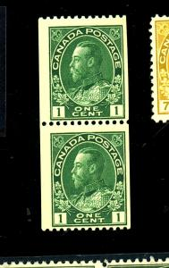 Canada #131 MINT Pair F-VF OG NH Cat $30